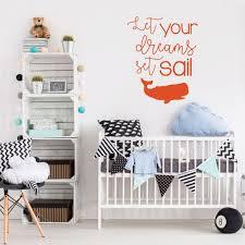 Children Let Dreams Set Sail Quote Vinyl Decor Wall Decal Customvinyldecor Com