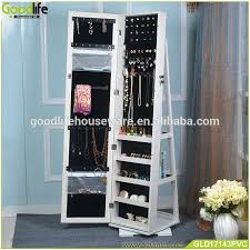 floor stand cosmetic shelf floor mirror