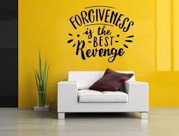 Amazon Com Wall Vinyl Sticker Forgiveness Is The Best Revenge Quote Phrase Inscription Mural Decal Art Decor Lp0678 Handmade