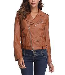 short coat faux leather moto biker