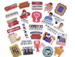100 Pcs Friends Tv Show Sticker Pack Waterproof Vinyl Stickers Free Usa Ship Ebay