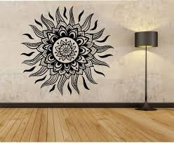 Sun Wall Decal Mandala Flower Sun Sticker Art Decor Bedroom Etsy In 2020 Vinyl Wall Decals Sticker Art Wall Decals