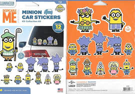 Despicable Me 12 Minion Peel Off Car Stickers Value Pack Collection 2 Starbase Atlanta