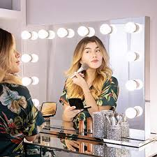 wellmet hollywood makeup mirror with