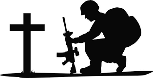 Image result for silhouette soldier funeral