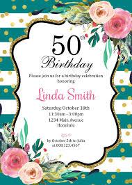 50th Invitaciones Fiesta Cumpleanos Invita A Pink Ladies Con Sin