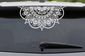 Mandala Car Decal Mandala Sticker Yoga Decal Boho Decor Flower Etsy Mandala Decals Car Decals Mandala