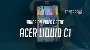 Acer Liquid C1 Hands On - YouTube