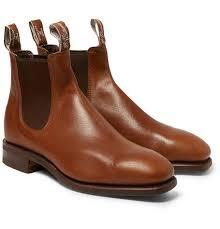 kangaroo leather chelsea boots
