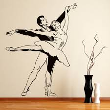 Ballet Dancers Ballerina Wall Decal Sticker Ws 17511 Ebay