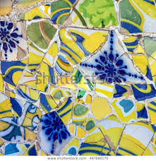mosaic tile decoration broken glass