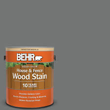 Behr 1 Gal N520 5 Iron Mountain Solid Color House And Fence Exterior Wood Stain 03001 The Home Depot