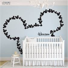 Mice Ears Children Wall Decal Mickey Mouse Head Custom Baby Name Wall Stickers Nursery Kids Teen Girl Decals Kid Boys Room Decor H851 Thefuns On Artfire