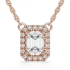 jewelry gold solitaire diamond necklace