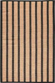 striped jute rug 3 x5 natural black