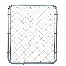 6 Ft H X 3 5 Ft W Galvanized Steel Chain Link Fence Gate In The Chain Link Fence Gates Department At Lowes Com