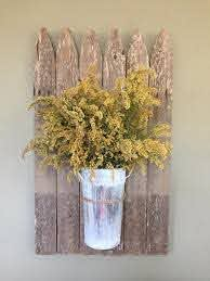 Repurposed Picket Fence Wall Decor Evergreen Expressions