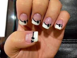 stylish and cute nail designs with bows