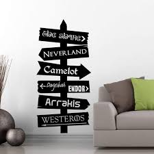 Fantasy Places Directional Decal Azvinylworks