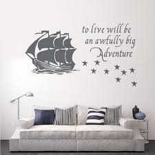 Peter Pan Shadow Decal For Wall Sticker Quote Design Vinyl Uk Amazon Vamosrayos