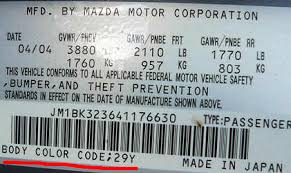 mazda paint codes car touch up paint