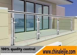 balcony railing design with glass