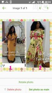 clic long dress in ikeja clothing