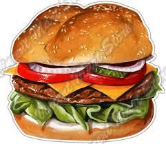 Super Burger Fast Food Soda Hamburger Drink Car Bumper Vinyl Sticker Decal 4 6 3 50 Picclick