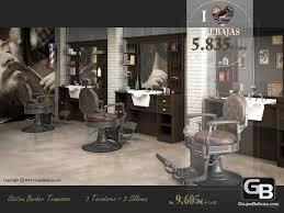 barber hair salon furniture set