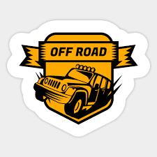 Off Road Car Badge Logo Off Road Sticker Teepublic