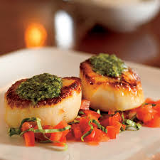 Pan-Seared Scallops with Pesto and ...