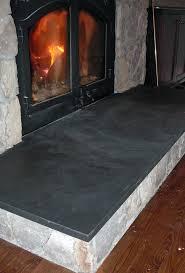 black slate fireplace hearth