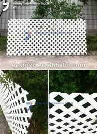 White Vinyl Lattice Fence