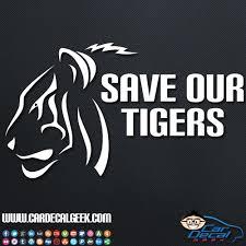 Save Our Tigers Car Window Vinyl Decal Sticker Wildlife Decals