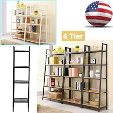 leaning ladder wall shelf bookcase