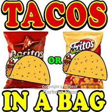 Tacos In A Bag Decal Choose Your Size Food Truck Concession Vinyl Sticker Ebay