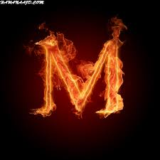 حرف M على شكل قلب حرف M انستقرام حرف M مزخرف للبلاك بيري حرف