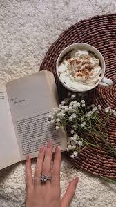 Beauty Book Flowers Flower Coffee كتاب كتب خلفية خلفيات