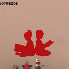 Joyreside Children Reading Books Wall Decal Education Wall Sticker Art Vinyl Decal Home Baby Rooms Decor Interior Designed A733 Wall Stickers Aliexpress