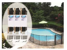 4 Ft H X 12 Ft W Pool Fence Diy Section In Black With 5 Poles Featuring A Steel Pin At The Base For A 1 2 In Hole Bulk Pack 3 Sections Pool Fence Diy