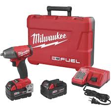 Milwaukee M18 Fuel 18 Volt Lithium Ion Brushless 3 8 In Compact Cordless Impact Wrench With Friction Ring Kit Millen Hardware