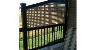 adding a lattice privacy screen to