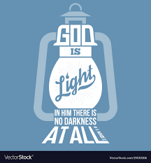bible quotes god is light royalty vector image