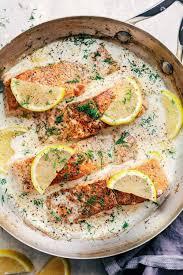 Pan Seared Salmon with a Creamy Lemon ...