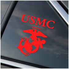 Us Marines White Or Red Window Decal Stick Emall Vinyl Decals