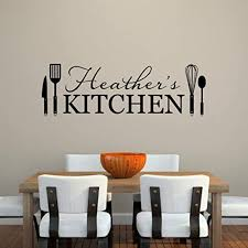 Amazon Com Kitchen Wall Decal Personalized Name Decal Kitchen Utensils Extra Large Handmade