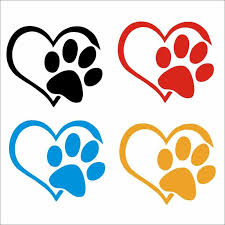 Wall Sticker Print Pet Paw With Heart Dog Cat Vinyl Decal Car Window Bumper Wall Sticker Decor For Home Wallpaper Wall Stickers Aliexpress