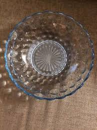 sapphire blue bubble glass serving bowl