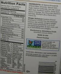 almond milk nutrition facts jody