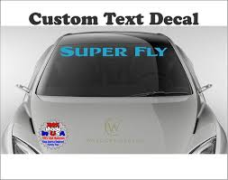 Custom Windshield Decal Personalized Letters Numbers Car Etsy